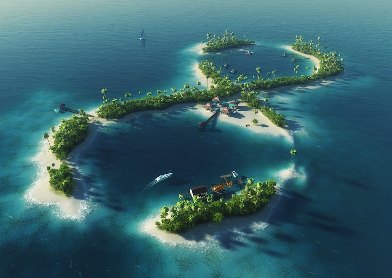 island in the form of infinity jpg