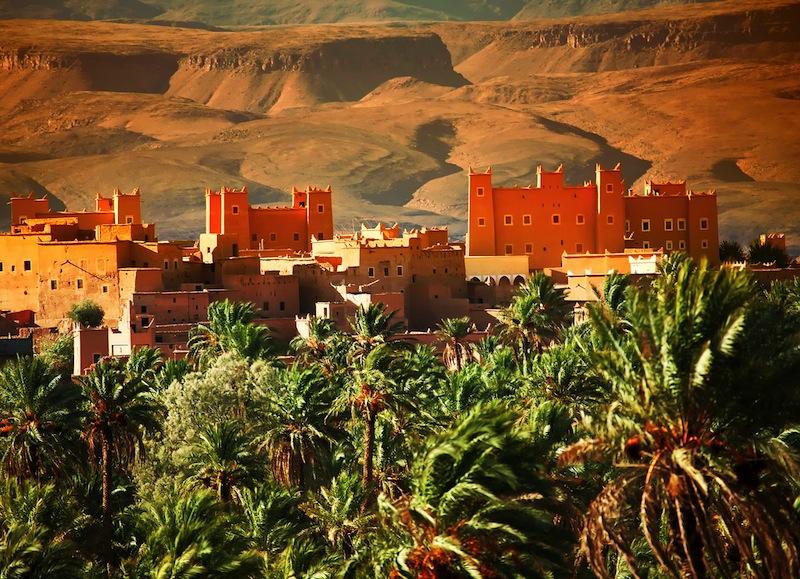 kasbah in Atlas Mountains
