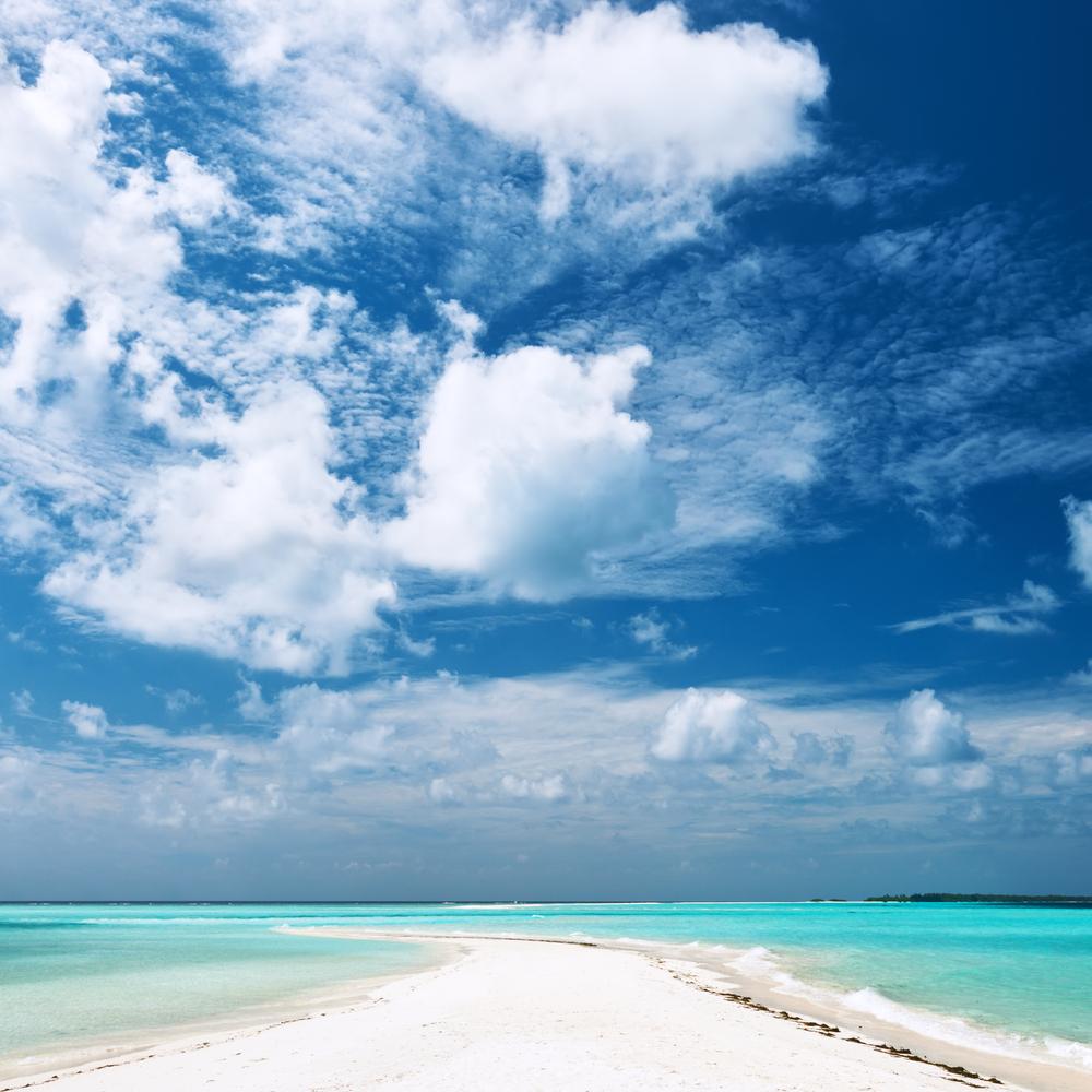 sandspit at Maldives