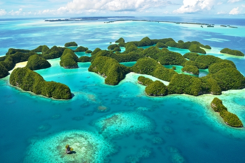 70 Island in Palau sud pacifico