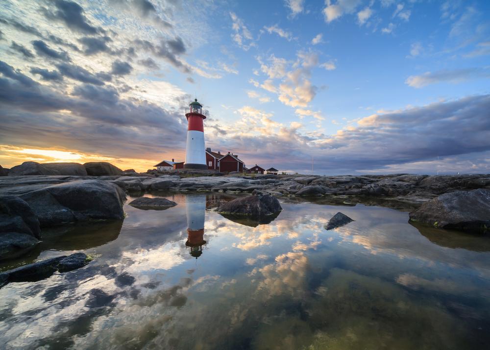 A lighthouse in Kvarken finlandia
