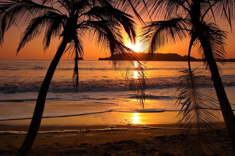 A sunset in Costa Rica