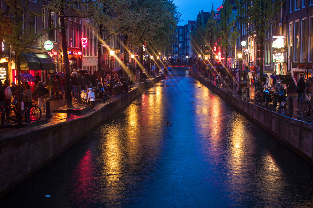AMSTERDAM MAY 11 Red Light District on May 11 2013 in Amsterdam Netherlands