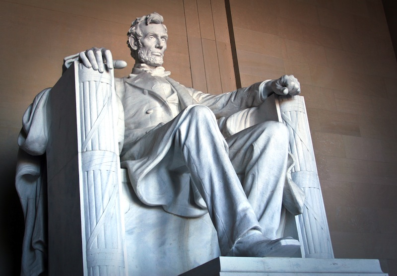 Abraham Lincoln monument in Washington DC