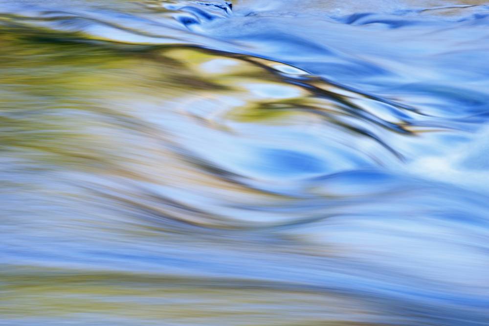 Abstract landscape of the Presque Isle River rapids Porcupine Mountains Wilderness State Park Michigans Upper Peninsula USA