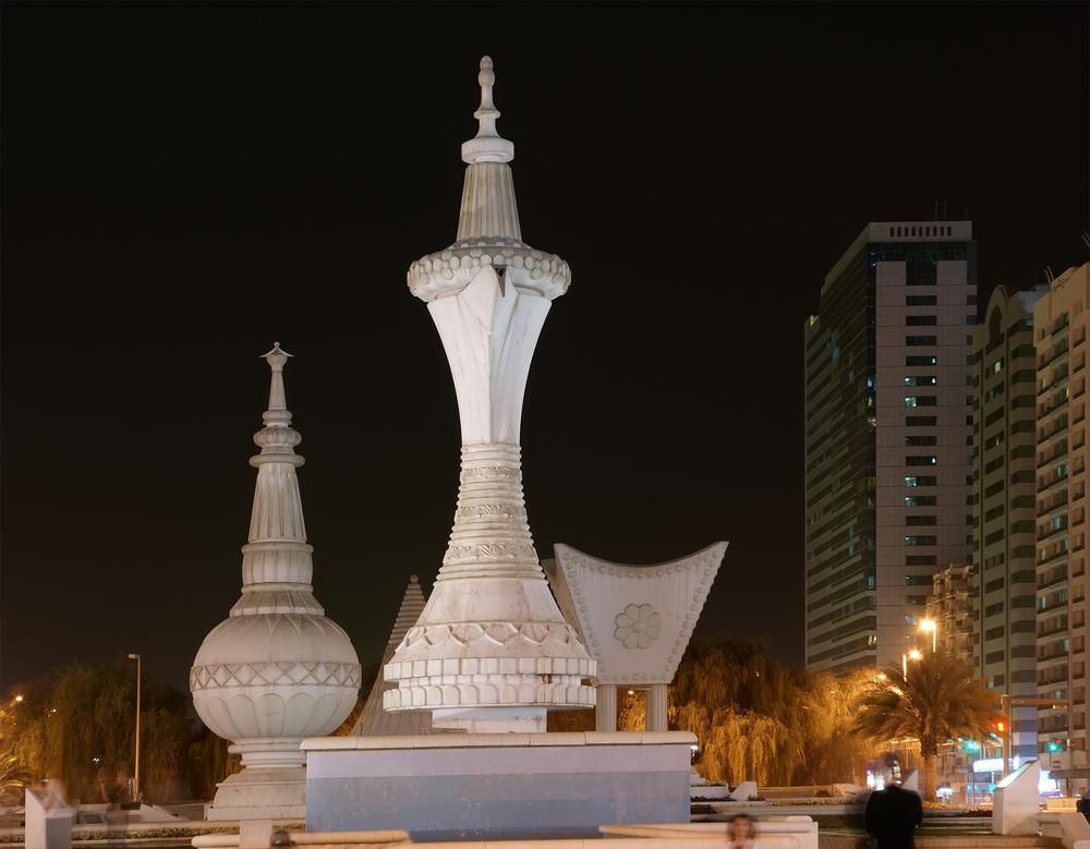 Abu Dhabi at night United Arab Emirates