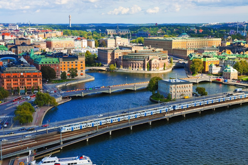 Aerial panorama of Stockholm