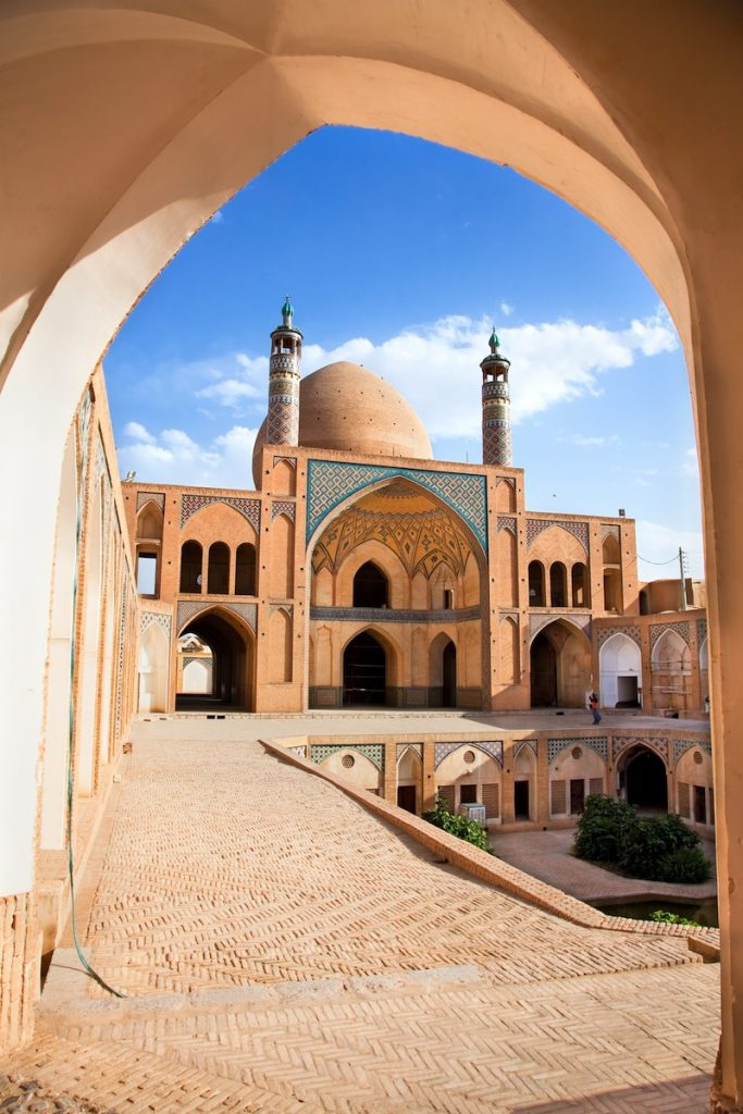 Agha Bozorg school and mosque in Kashan Iran