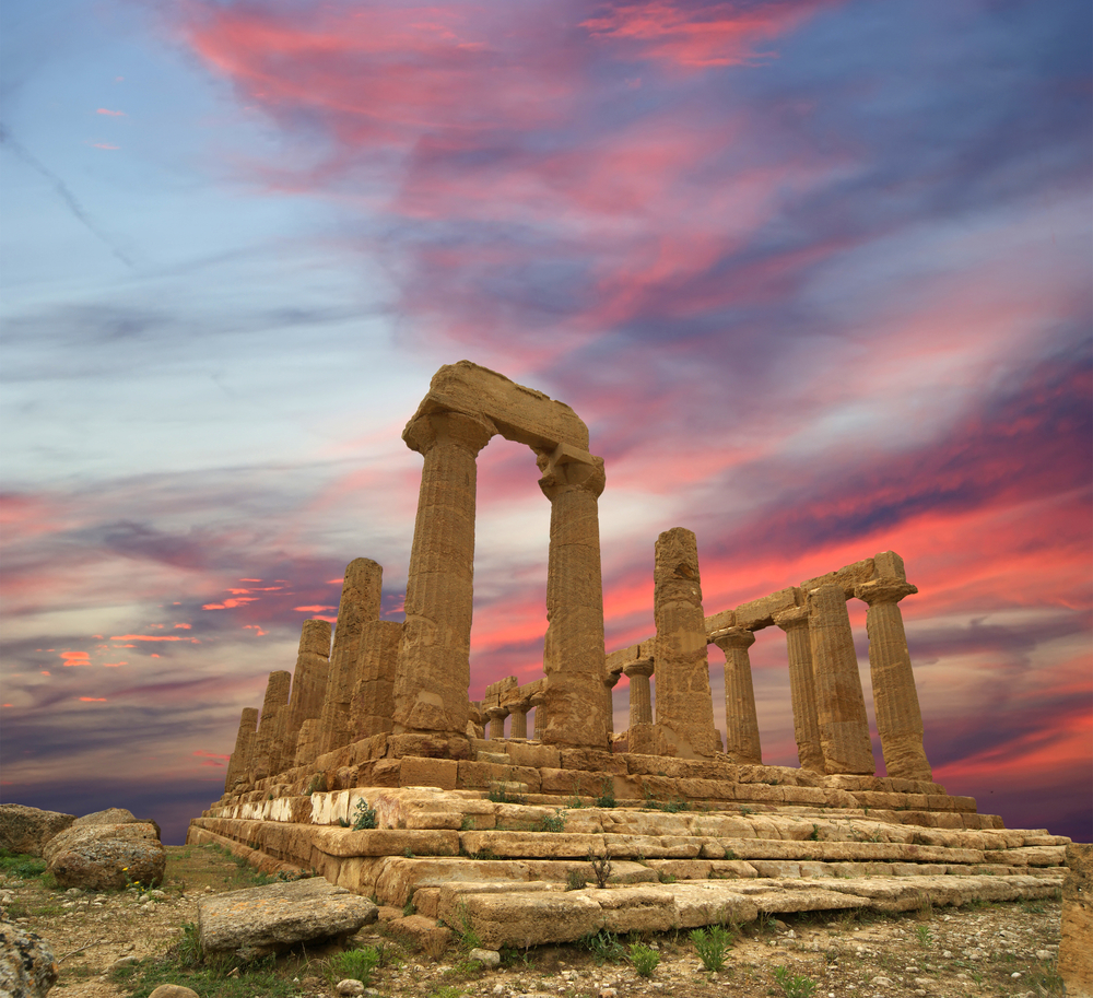 Ancient Greek Temple of Juno V VI century BC Valley of the Temples Agrigento Sicily