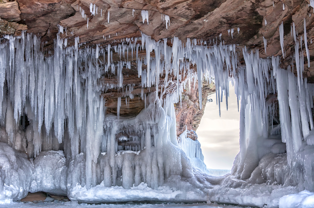 Apostle Island Ice Caves on the shores of Lake Superior