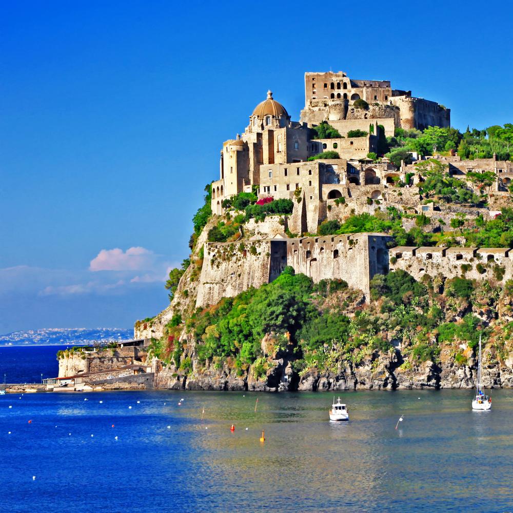 Aragonese Castle on Ischia italian island