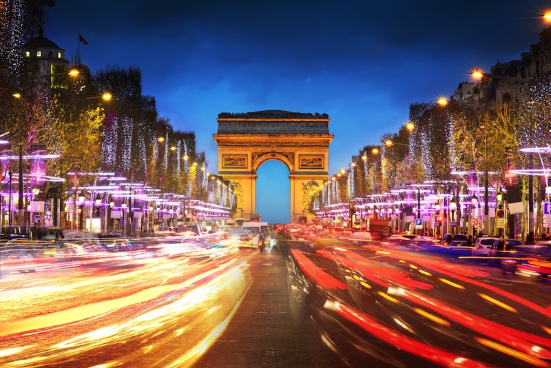 Arch of Triumph and Champs Elysees
