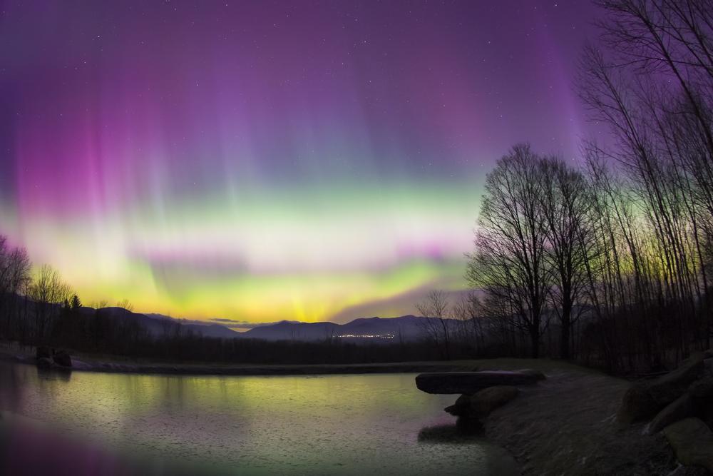 Aurora Borealis in Stowe Vermont USA
