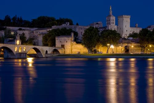 Avignon at night Provence France