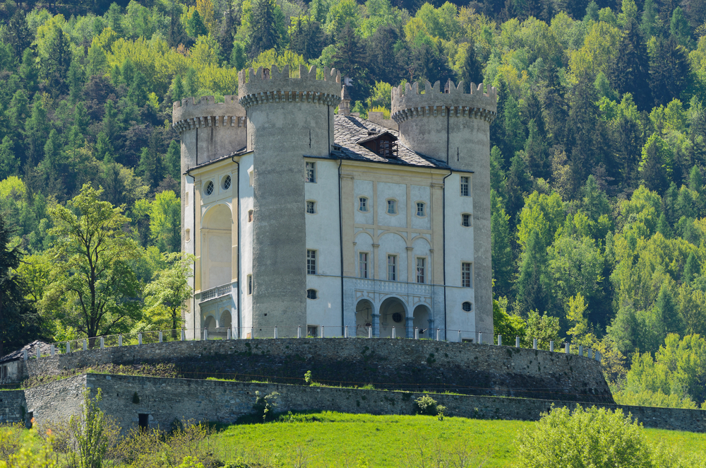 Aymavilles Castle Aosta Valley Italy