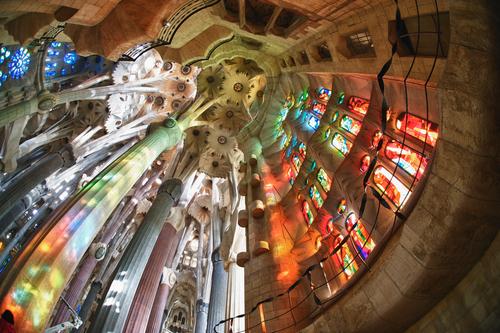 BARCELONA SPAIN OCTOBER 30 La Sagrada Familia