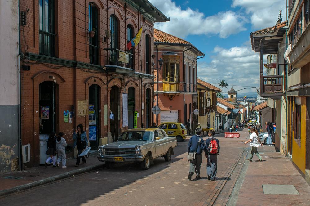 BOGOTA COLOMBIA November 20 Street of Candelaria district of Bogota on November 20 2009 in Bogota Colombia