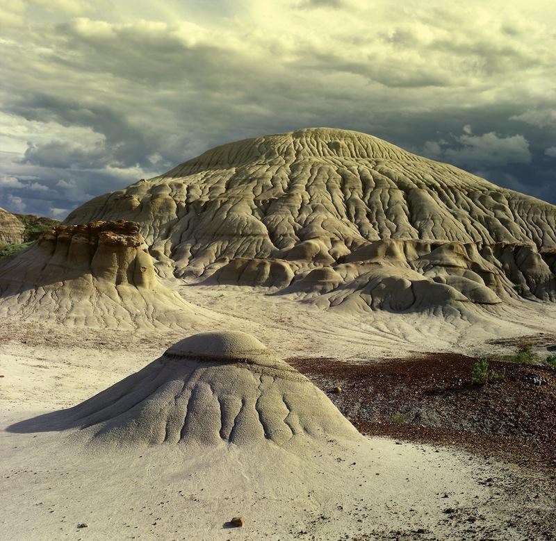 Badlands in Dinosaur Provincial Park Alberta Canada