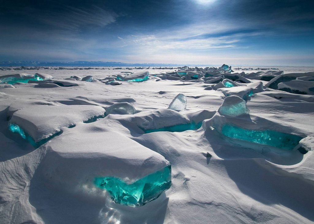 Baikal Lake in Siberia Russia