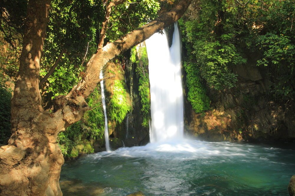 Banias waterfall stream