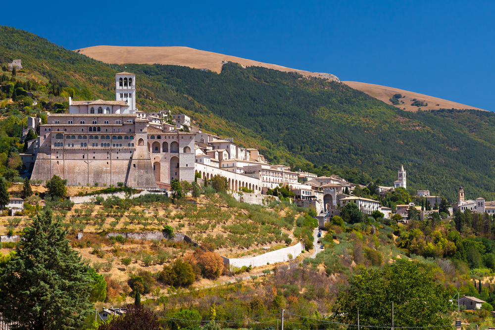 Basilica San Francesco in Assisi Umbria Italy During a Hot Summer Day 5
