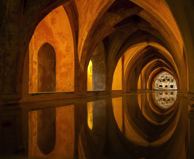 Bath in Alcazar Seville Spain jpg