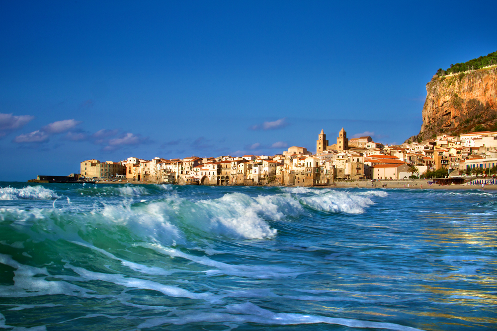 Beach of Cefalu Sicily