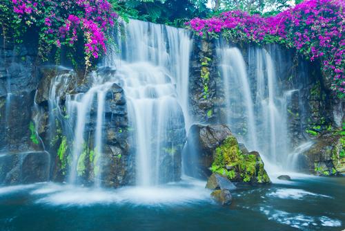 Beautiful Blue Waterfall in8 Hawaii