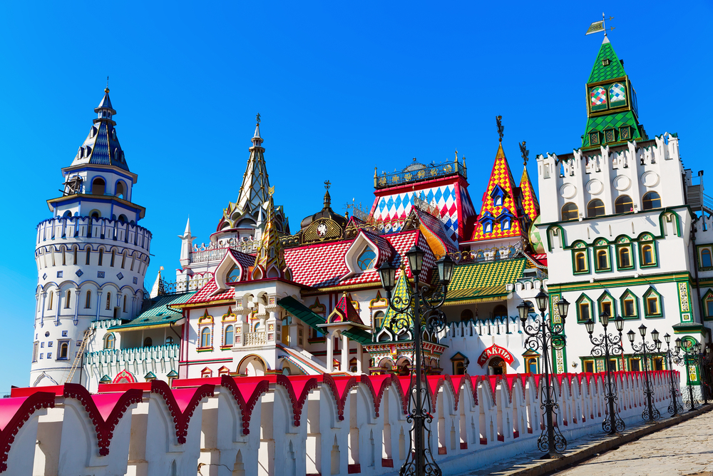 Beautiful Kremlin in Izmaylovo in the spring Moscow Russia