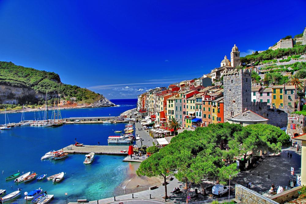 Beautiful Ligurian coast of Italy