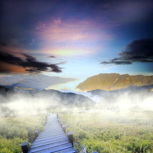 Beautiful high mountain sunset kamciaka