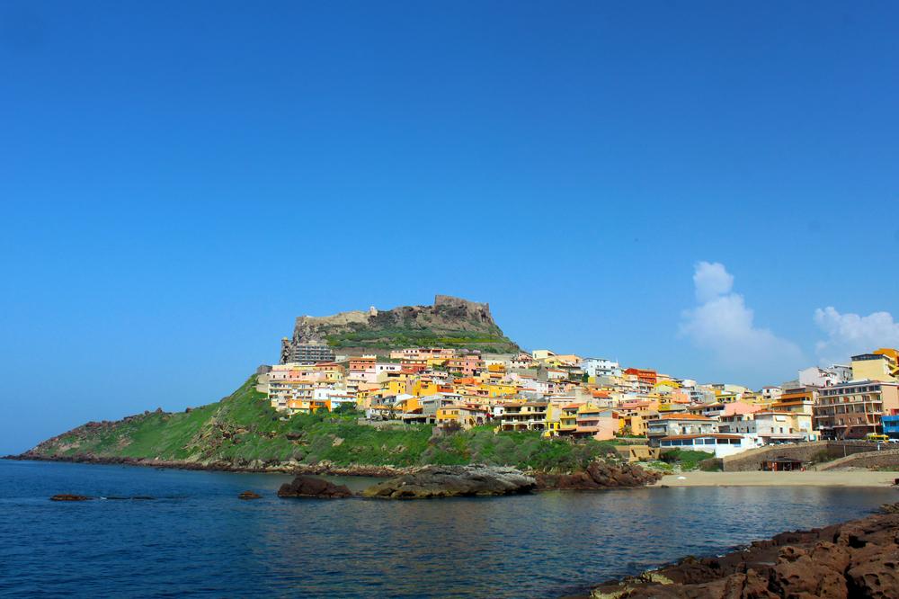 Beautiful medieval town Castelsardo on the north coast of Sardinia