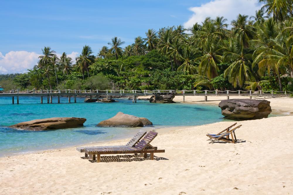 Beautiful tropical beach in island Koh Kood Thailand