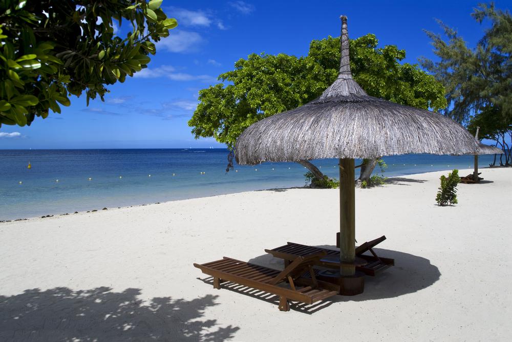 Beautiful tropical beach9 in luxury resort in Mauritius