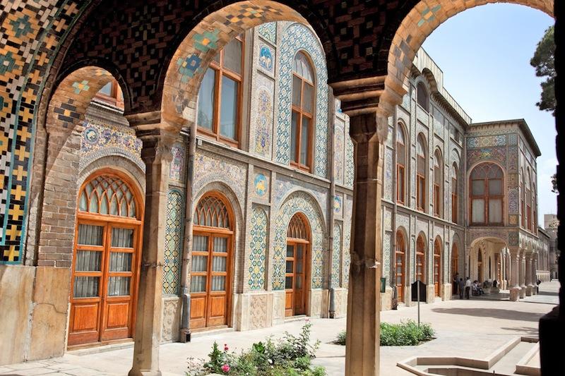 Beautyful architecture of Golestan palace Tehran Iran