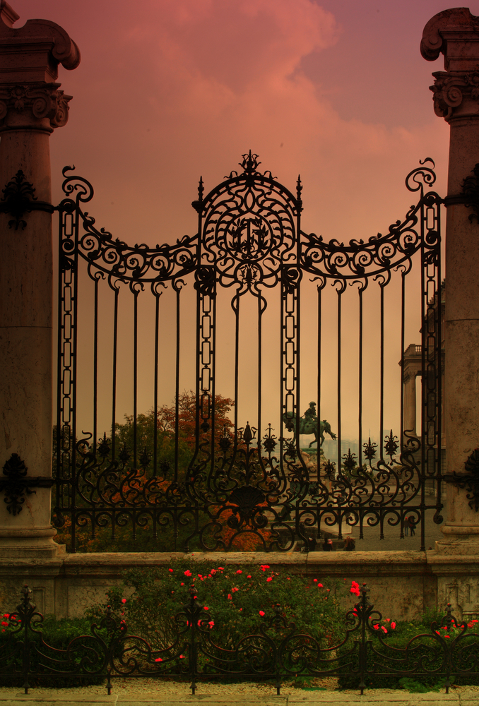 Beautyful gate in old town of Budapest ungary2