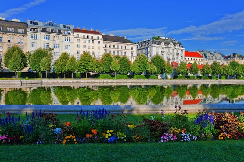 Belvedere garden in Vienna Austria