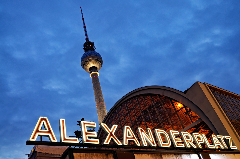 Berlin Alexanderplatz with the famous TV tower in the background