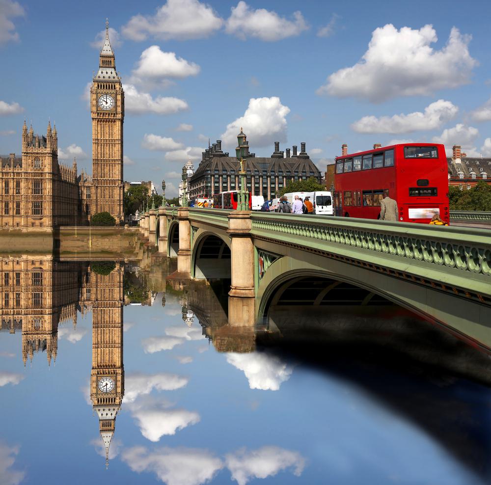 Big Ben with bridge London UK 38