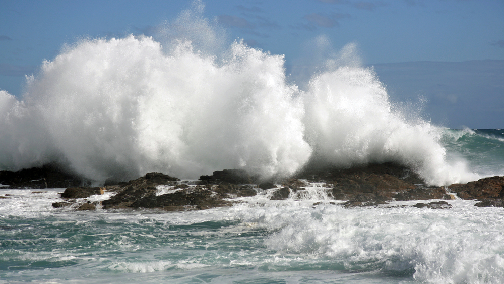 Big Waves Storms River Mouth South Africa