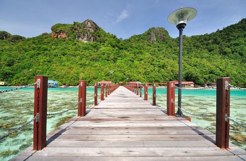 Bohey Dulang Islands Jetty at Semporna Sabah Borneo