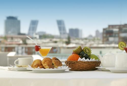 Breakfast in a terrace of Madrid