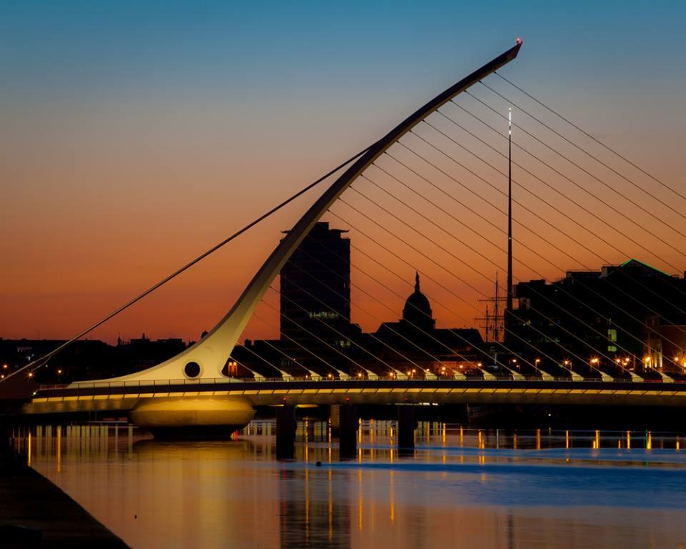 Bridge over river Liffey Dublin Ireland