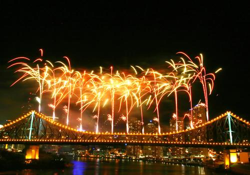 Brisbane Riverfire Festival Australia anno nuovo