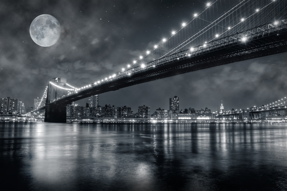Brooklyn Bridge at night 4