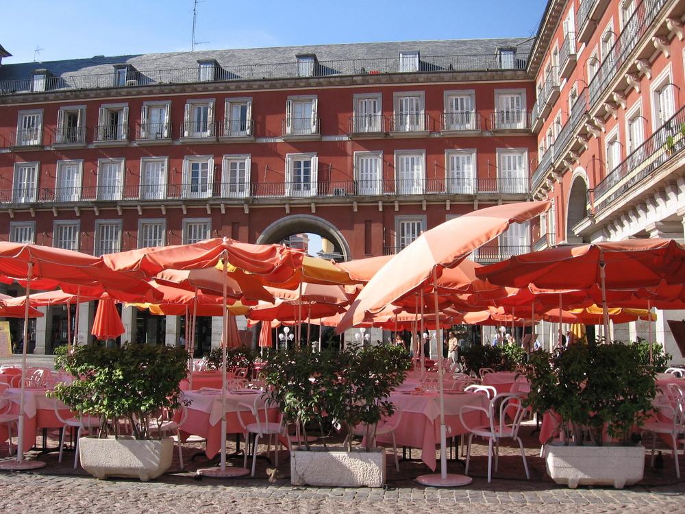 Cafes at Plaza Mayor