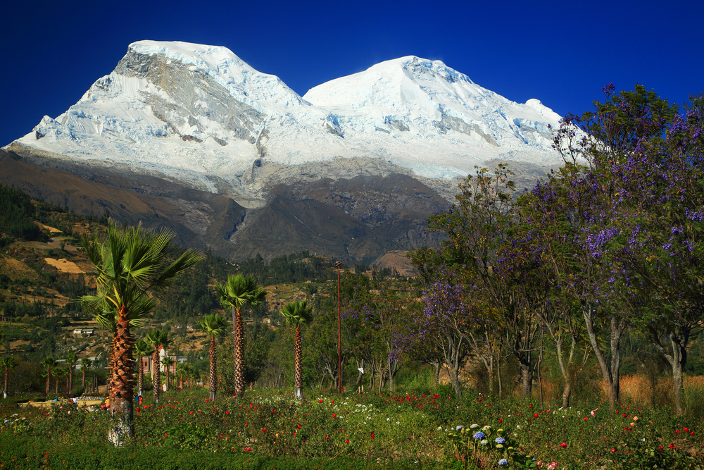 Campo Santo of Yungay and Huascaran Peaks 6768m Peru South America 7