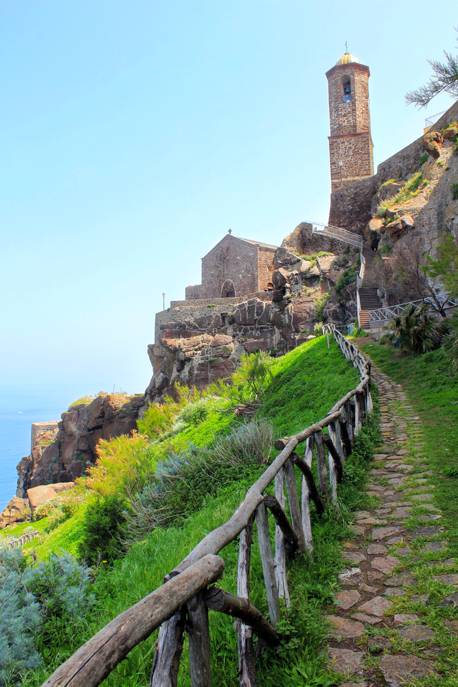 Castelsardo on the north coast of Sardinia island Italy