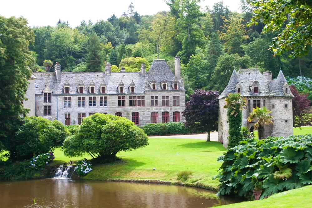 Castle de Nacqueville Chateau de Nacqueville Normandy France
