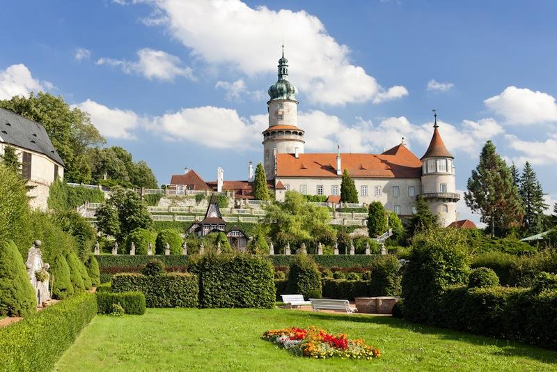Castle of Nove Mesto nad Metuji with garden Czech Republic
